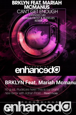BRKLYN – Can't Get Enough (Adrian Frost & RudeLies)