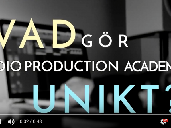 Vad är unikt med Audio Production Academy?