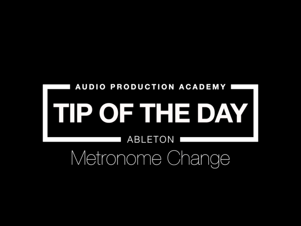 Tip Of the Day – Metronome Change