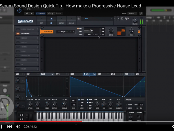 Tip of The Day – How make a Progressive House Lead