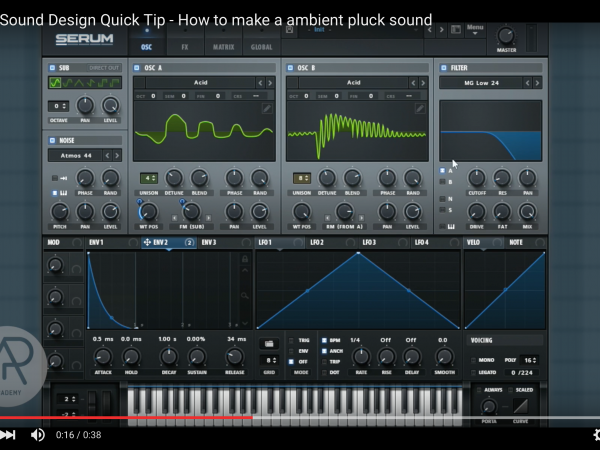Tip of The Day – How to make a ambient pluck sound