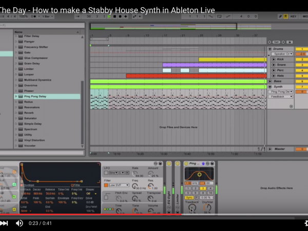 Tip of The Day – How to make a Stabby House Synth in Ableton Live
