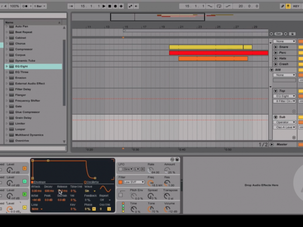 Ableton Tip of the Day – Top kick & Sub Kick Sound design