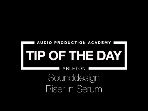 Tip Of The Day – Riser In Serum