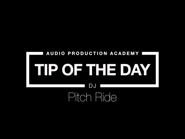 Tip Of The Day – Pitch Ride